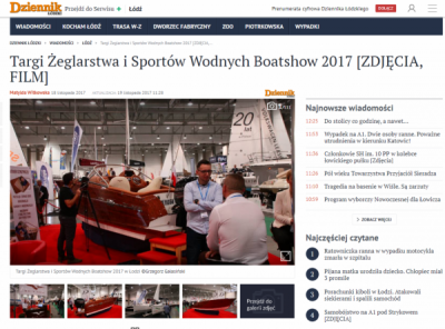 White Eagle - Targi Boatshow - Dziennik Łódzki