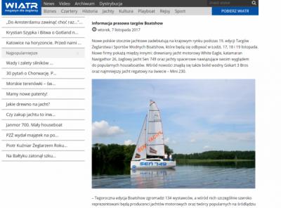 White Eagle - Targi Boatshow - Magazyn Wiatr