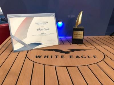 Złoty Medal targów Boatshow 2018 - łodzie White Eagle