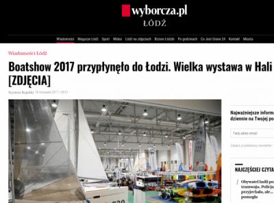 White Eagle - Targi Boatshow - Wyborcza Łódź