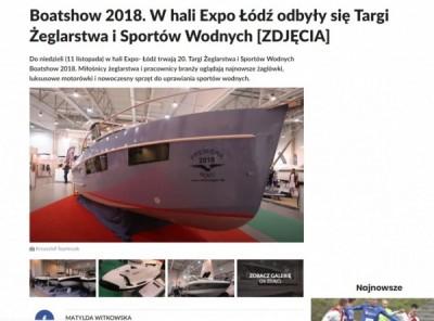 Łódź White Eagle na targach Boatshow 2018